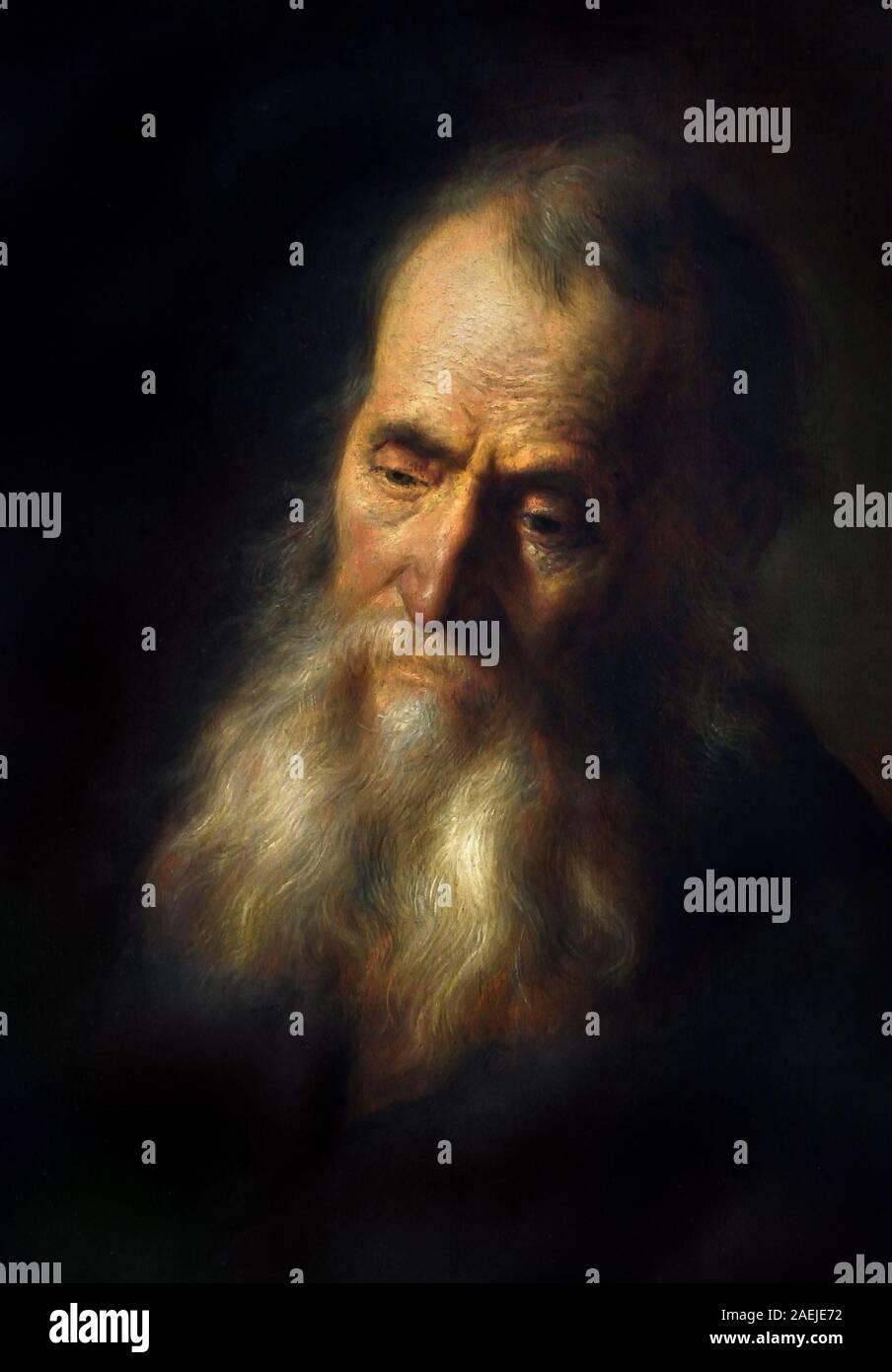 Cabeza de un hombre viejo con barba 1632 Rembrandt Harmenszoon van Rijn 1606-1669 holandés, los Países Bajos, Holanda (Jan Lievens) Foto de stock