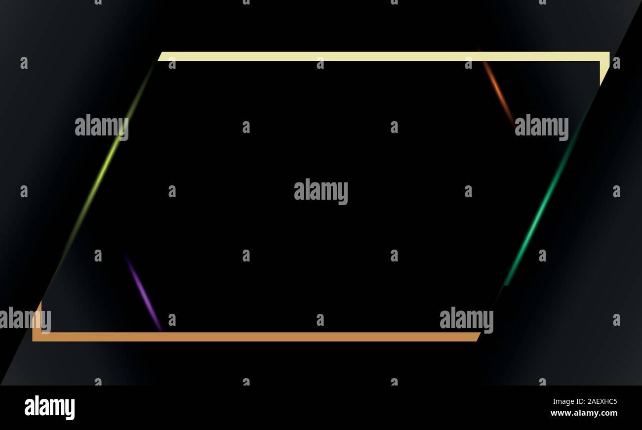 Viernes negro en oro bastidor cuadrado banner para Viernes negro Ilustración del Vector