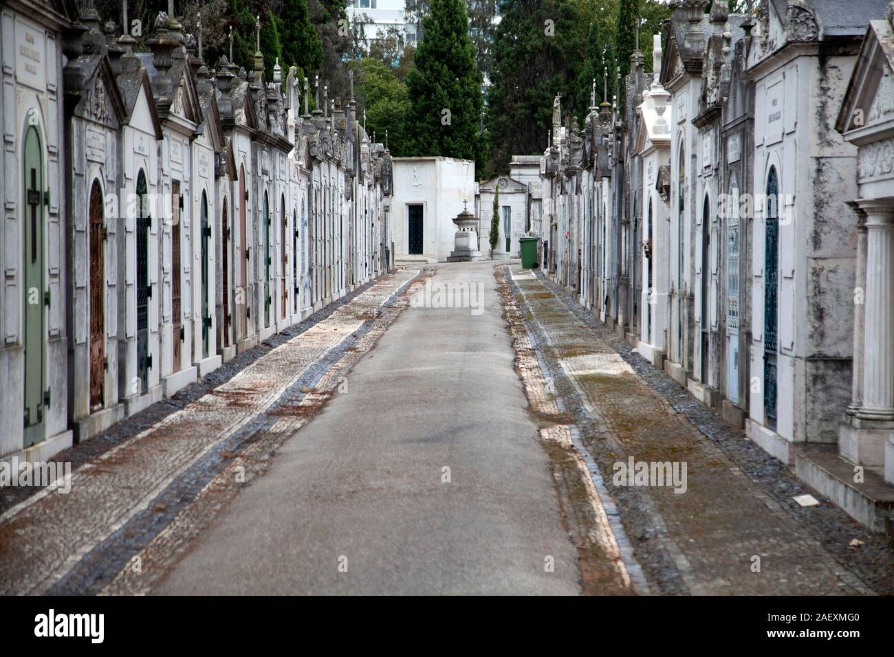 Prazeres Cementerio de Lisboa, Portugal. Foto de stock
