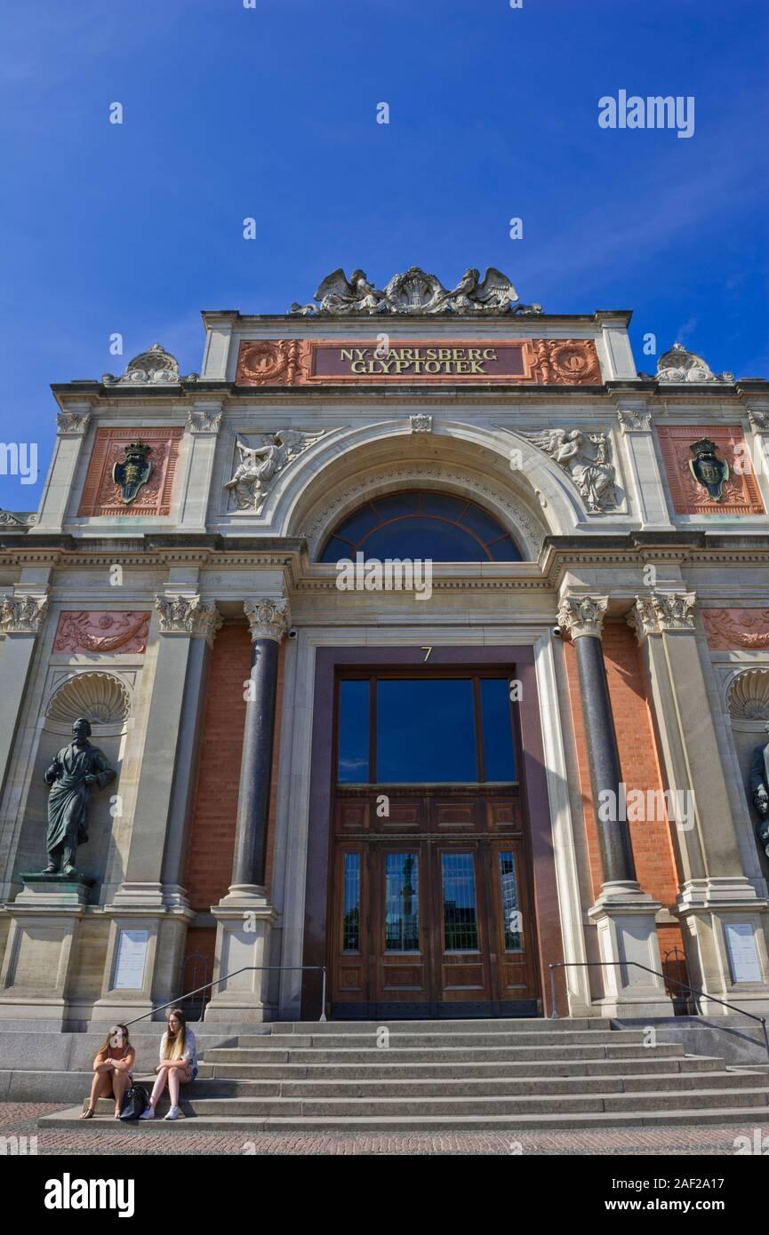 Ny Carlsberg Glyptotek, museo de arte en Copenhague, Dinamarca Foto de stock