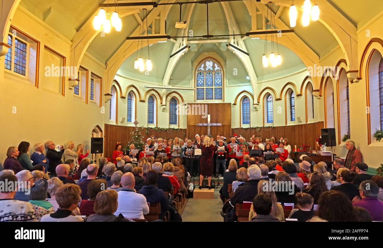 The Big Sing, Parte De Lymm Victorian Weekend, Warrington, Cheshire, Inglaterra, Reino Unido Foto de stock