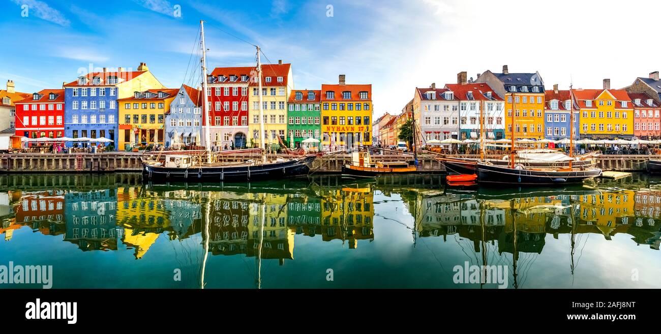 Nyhavn, Copenhague, Dinamarca Foto de stock