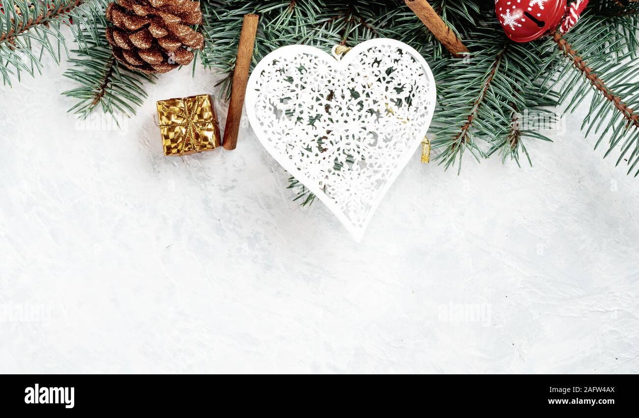 Signo de amor corazón rosa oro brillante con ornamento de Navidad árbol de Navidad Decoración De Cristal