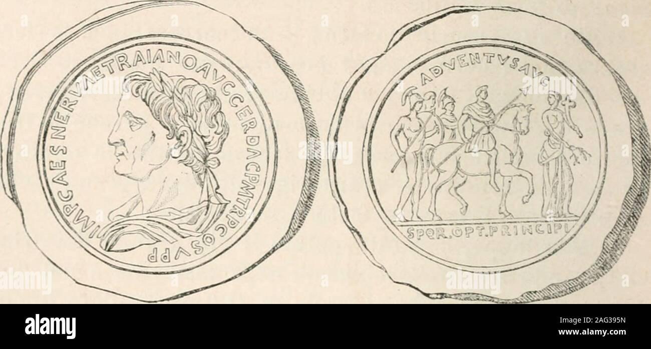 """. Storia dell'Italia antica. le sue opere civili ci viene scarsa da qualche ("""") de Vita, Antiquit Vedi. Benerent., I, 253; Orelli, 788, 789, 795.;Eckel, 418, 420, 421, 423-4:30, 436-438, 448-450, 458; Mongez, Icono. Rom.,pi. XXXVI, n. G: Cohen, VDI. II, troyano, n. 9, 16, 17. 21-59, 63-75, 91-94. 96-100. ecc.. ecc. (*) Trajano en 1 Dacicorum: inde Berzobim processimiis - Pri-sciano, VI, 13. 1 Plinio, loc. cil.^ 13. 2 Plinio, loc. cit.S?. 3 Plinio, loc. eie... 34-3G. 560 IL PANEGIRICO DI PLINIO El Traiano. [LiB. VII. compendio, e dal Panegirico detto- da Plinio quando entròconsole Il primo di lu Foto de stock"""