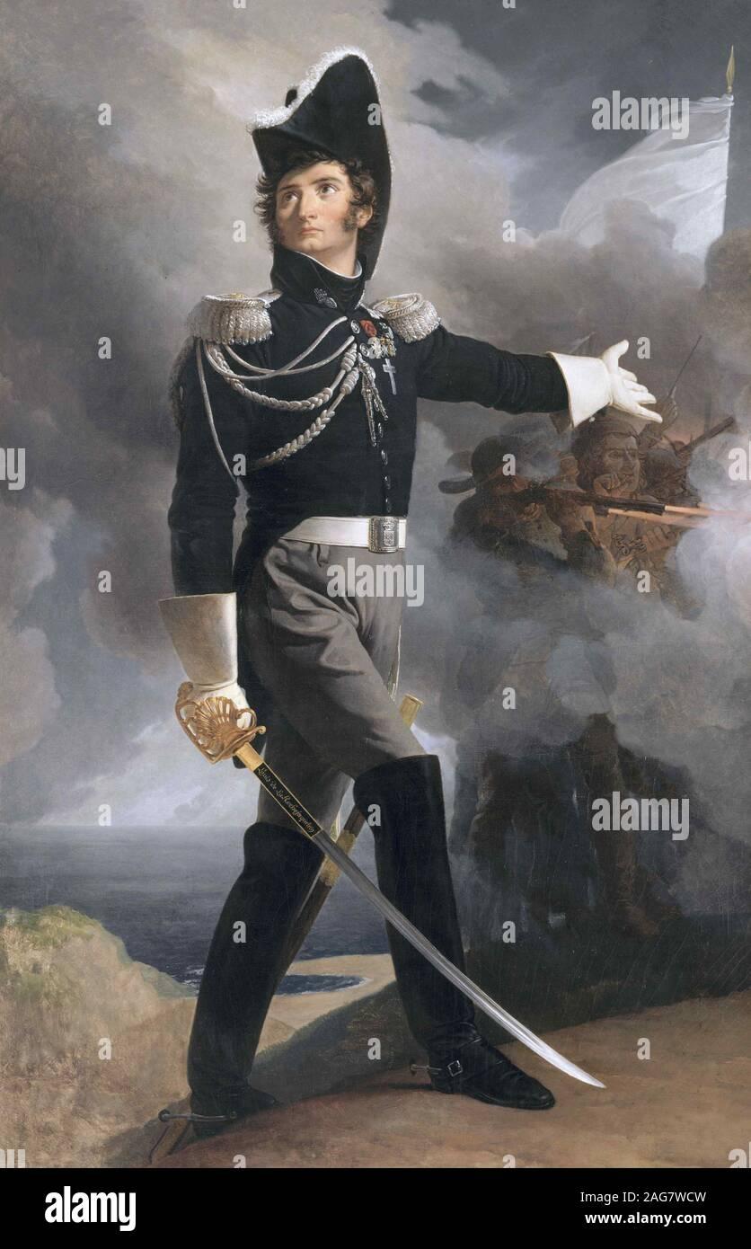 Louis General Duverger, marqués de La Rochejaquelein (1777-1815), ca 1819. Encontrado en la colección de Musée d'art et d'histoire, Cholet. Foto de stock