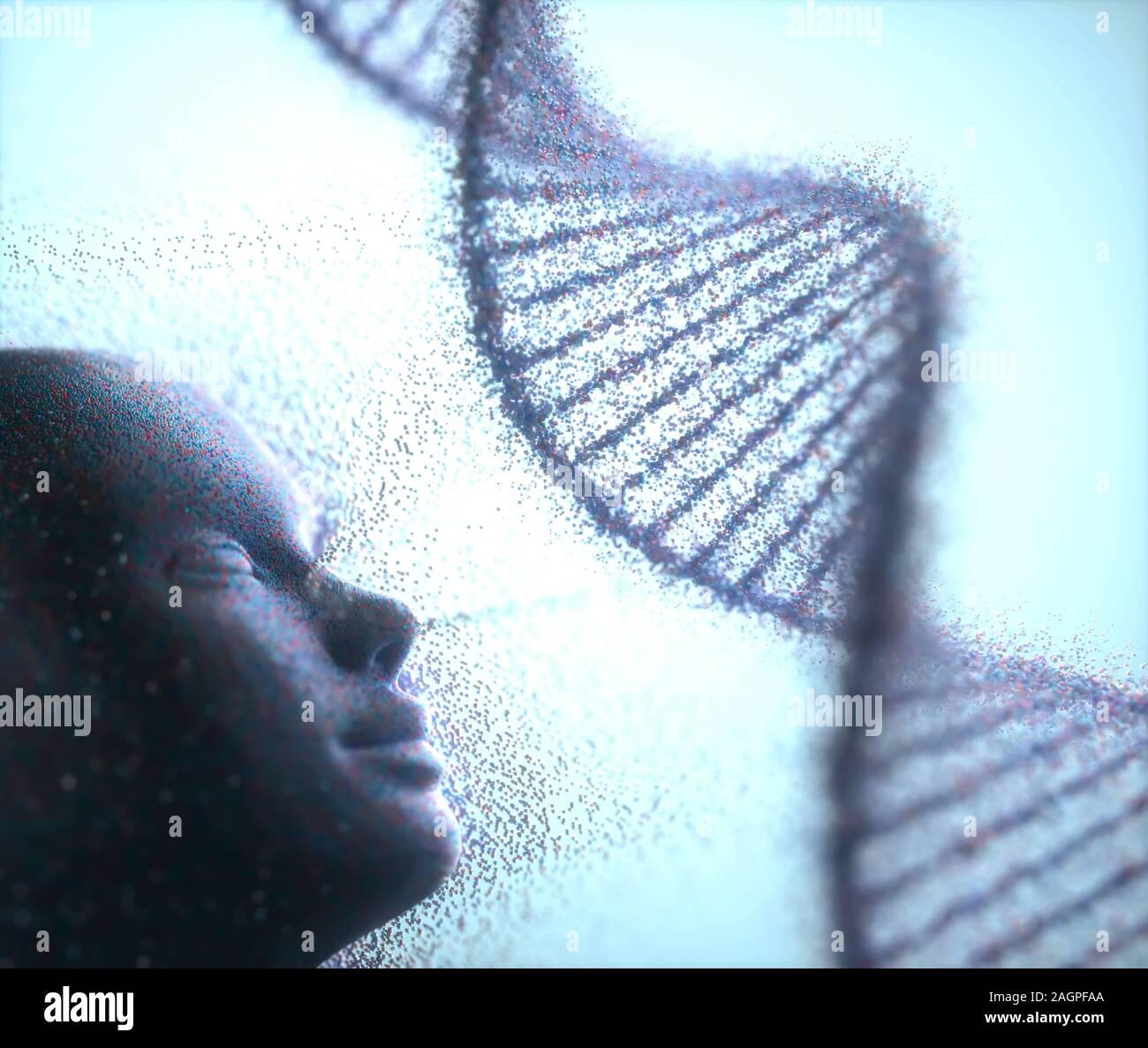 La clonación humana, Ilustración conceptual. Foto de stock