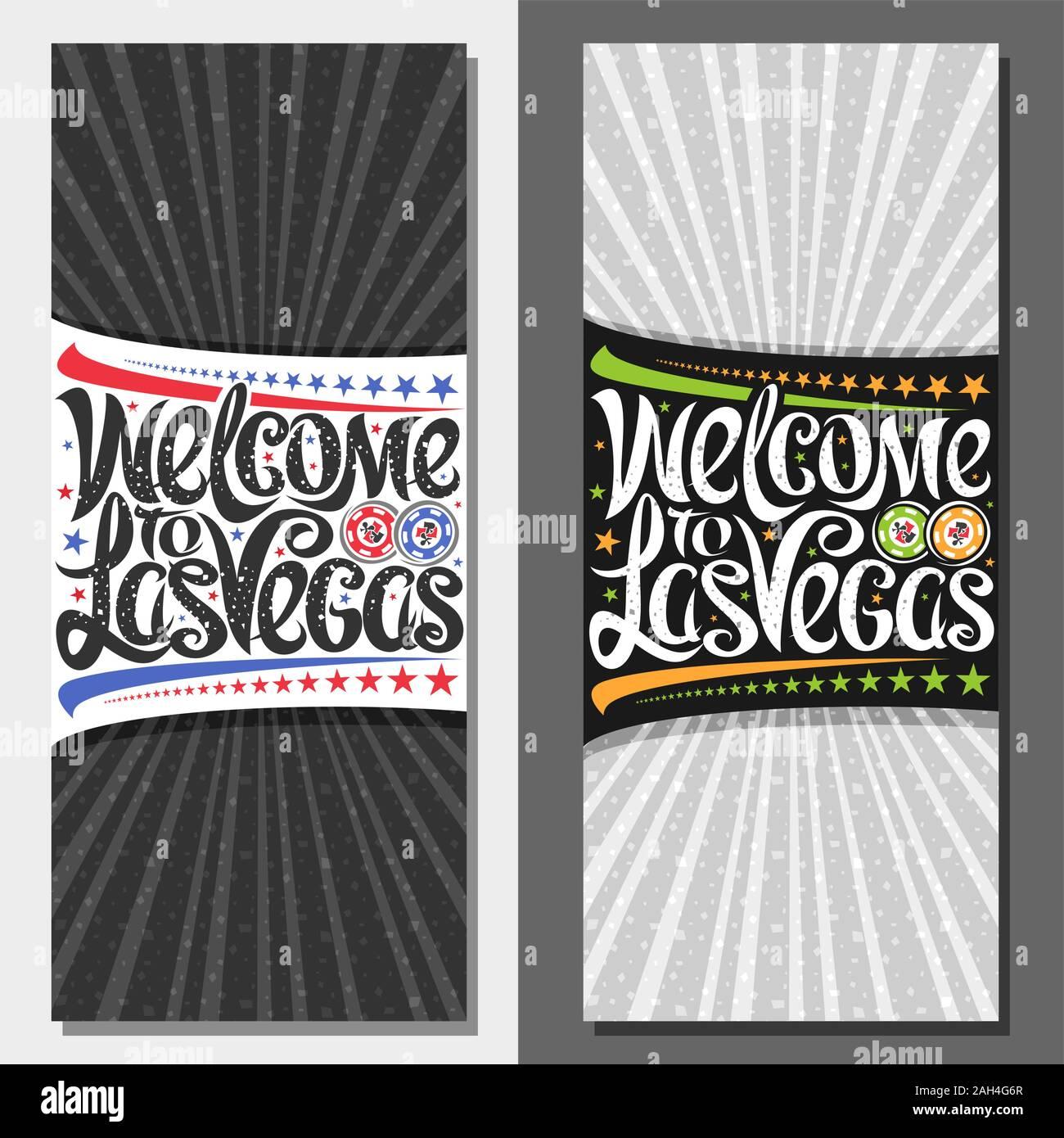 Detenerse Tigre Inmunizar  Vales de vectores para Las Vegas con copia espacio, cupón decorativos con  la ilustración de fichas de juego, las estrellas en una fila y tipografía  creativa para el eslogan Imagen Vector de