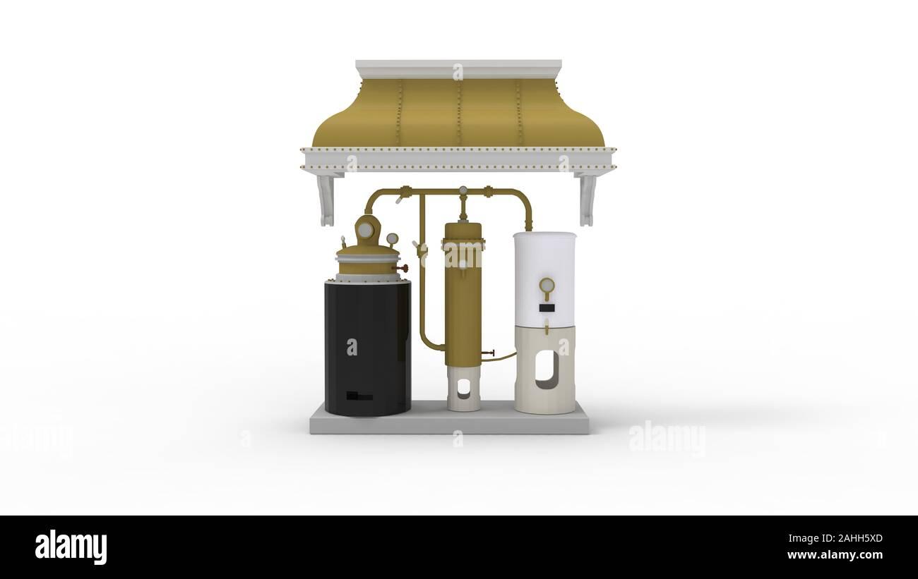 Representación 3D de una garrafa sigue aislado en fondo blanco. Foto de stock
