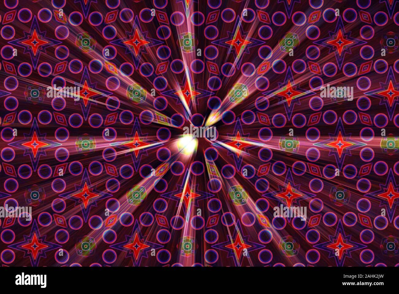 Imagen de fondo psicodélico abstracta. Foto de stock