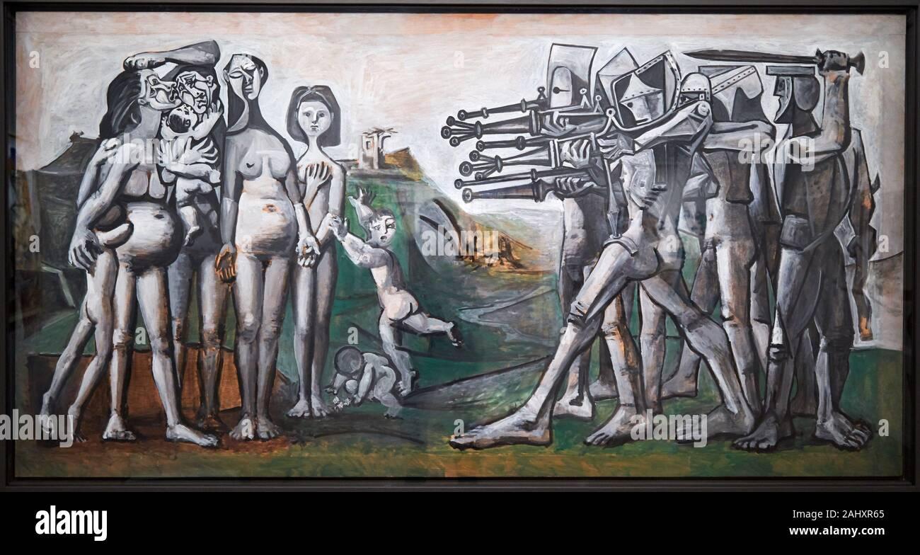'''Massacre en Corée'' de 1951, Pablo Picasso, 1881-1973, Musée de l'Armée, París, Francia Foto de stock