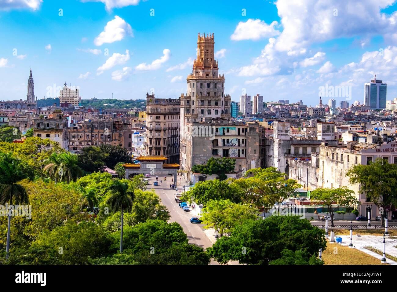 Syline de La Habana, República de Cuba, el Caribe, América Central. Foto de stock