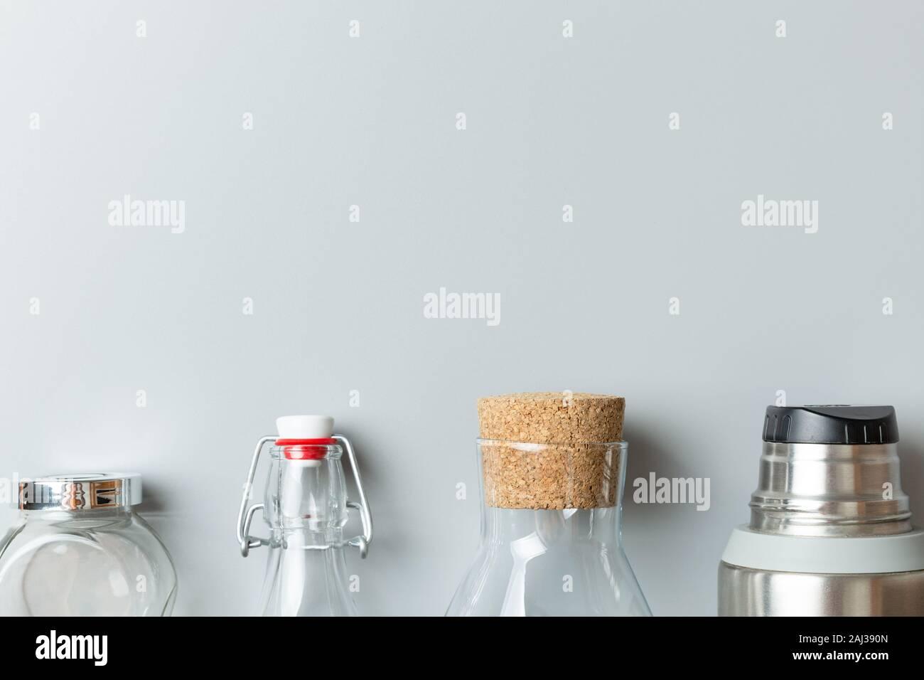 Concepto de residuos cero libre de plástico. Embalaje de productos reutilizables. Foto de stock