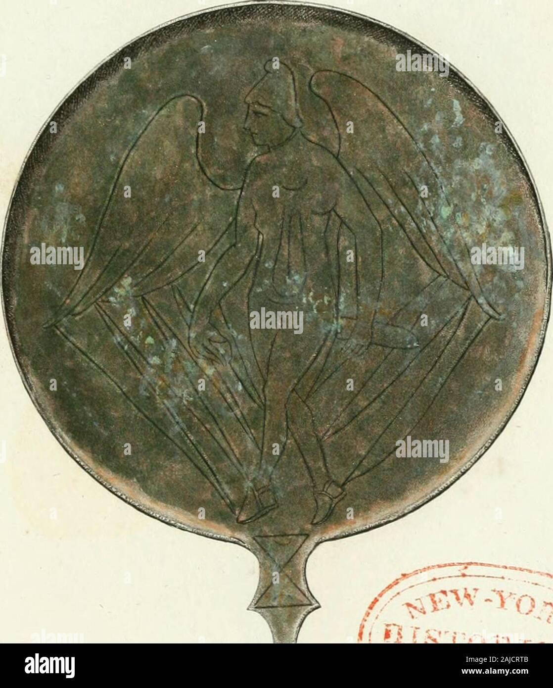 Monumenti etruschi etrusco o di nome . nin. , En Lavacr. ultim., p. FullitJ 36i. , I. 54 • 5 Pausai)., lib. iK , cap. ^11, pág. 14. Ì Spanili ni., en Callimac, 1 cil., r. 6 Caus. , Mas. Roin. Toni. 11, sccr.Sii 7S, 100. Jii . Tav. xxvii , p. ip . TAVOLA XLVI. 4-^9 derôme gli effetti di anu severa Nemesi animi sugli dei col-pevoli . Se vogliamo pertanto giudicare di questi Specchi misticidalle rappresentanze che essi contengono, potremo direche essi presentavano agi iniziati, pei cuali facevansi, istruzione unadoppia cioè di fisica e di inorale. Non mi stndunque allontanato dal vero, paloma ho giudic Foto de stock