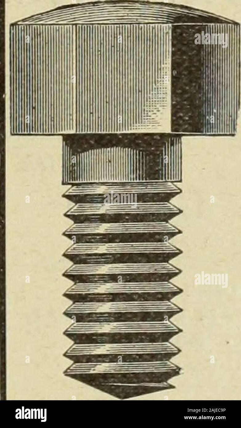 """Le Juillet-Decembre quincaillier (1905) . ??! Yo me """"n?n^?[ Les máquinas h, forer actionnees parla principal .. DE.. JM R DI N E sontfaitespour repondreauxbesoinsdu forgeron. Elles fouctionnent ai-s6ment, sont comodas et duraderos. A. B. JARDINE & CO. HESPELER, ONT. FONDERIE ST-JEROME POEL,.ES.CHAUDRONS.EVIERS.CANARDS, SITB COMMANBE. Ne nous avons ONU fortI stoclc en red. Ecrivez-nous pour lesprix et escomptes sp6ciaux au Commerce. M. J. VIAU & Fils, ST-JEROIVlB Manufacturiers, F=.P. L. R. M ONTBRIAND, arquitecto et Mesureur, ) N230rueSt-Andr6, I Montreal. S John Moppow MachineScrew Co., Ltd.. Foto de stock"""