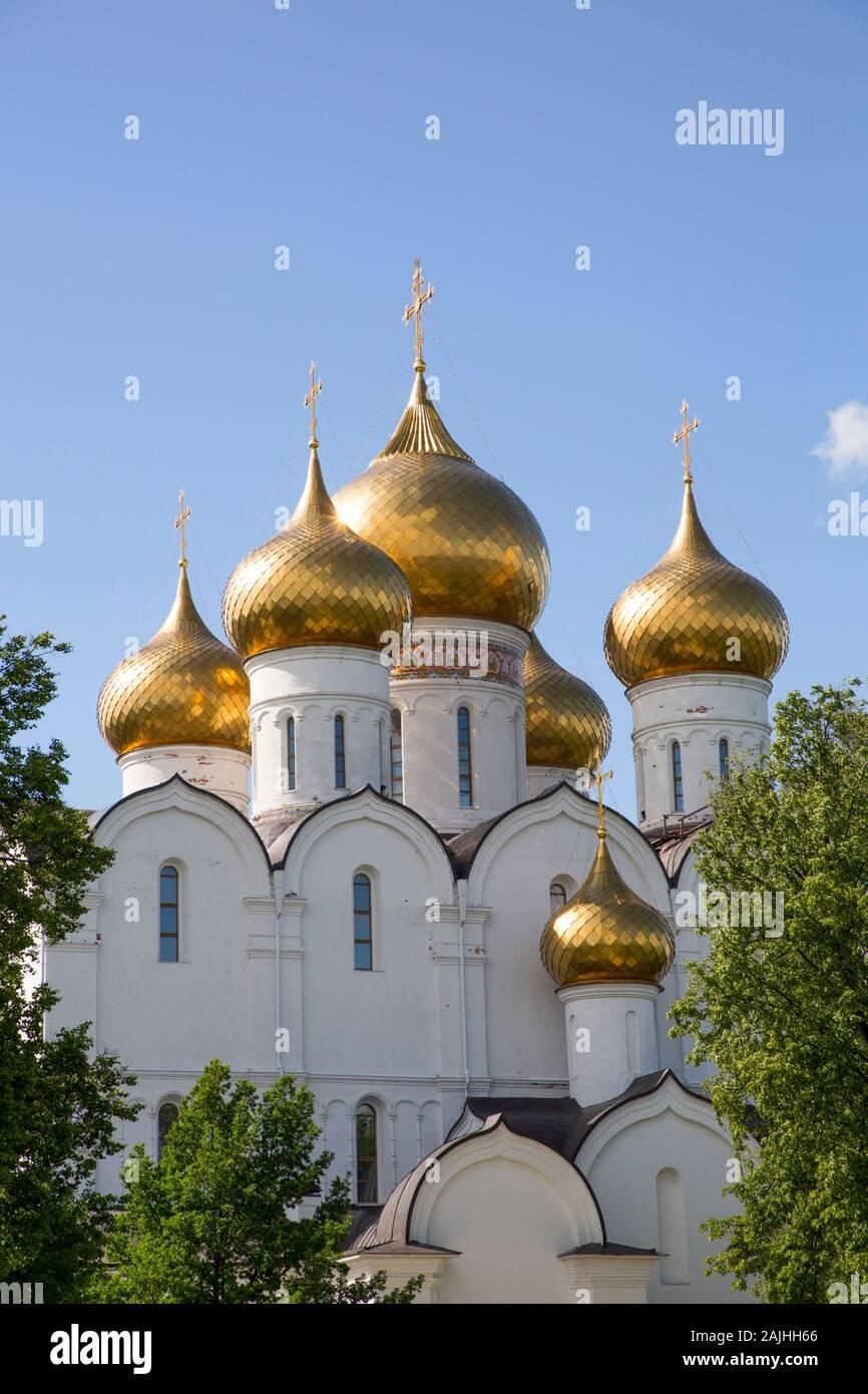 La Catedral de la Asunción, Sitio del Patrimonio Mundial de la UNESCO, Yaroslavl, Anillo de Oro, Yaroslavl, Rusia Foto de stock