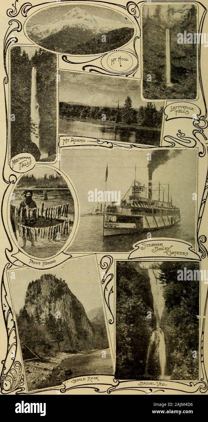 Guía oficial de la exposición del centenario de Lewis y de Clark, Portland, Oregon, del 1 de junio al 15 de octubre de 1905, .. . 35 Alegría de aLifetime aprovecho Steamers Bailey Gatzert Dalles Regulador de la ciudad. 36 Foto de stock