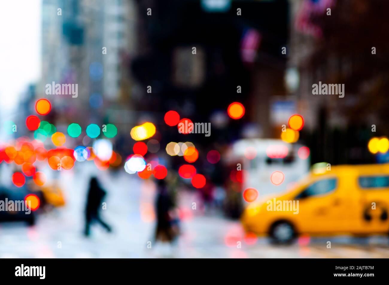 Resumen de la escena de la ciudad de Nueva York Foto de stock