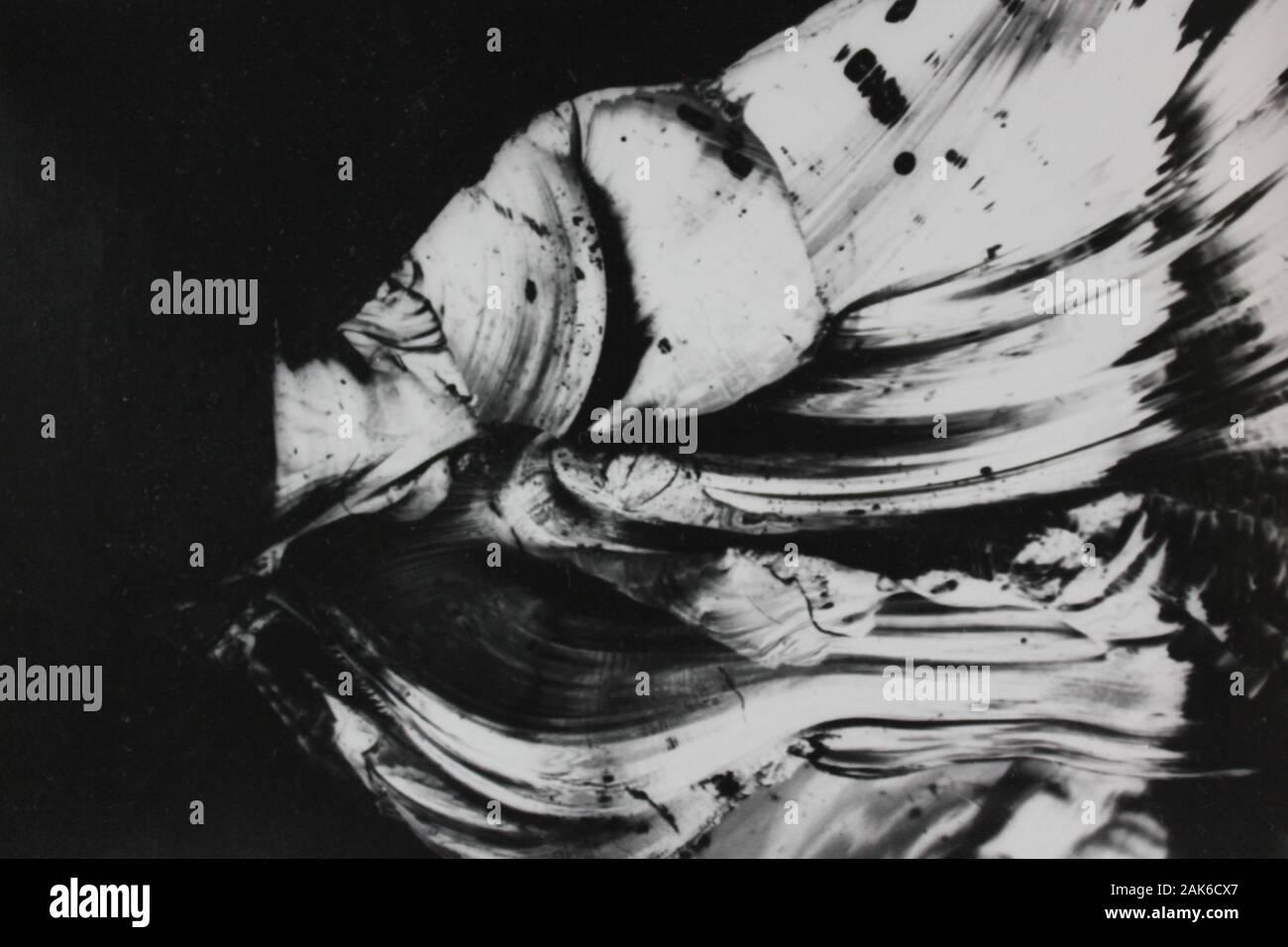 70 fino blanco y negro fotografía abstracta teórica extrema Foto de stock