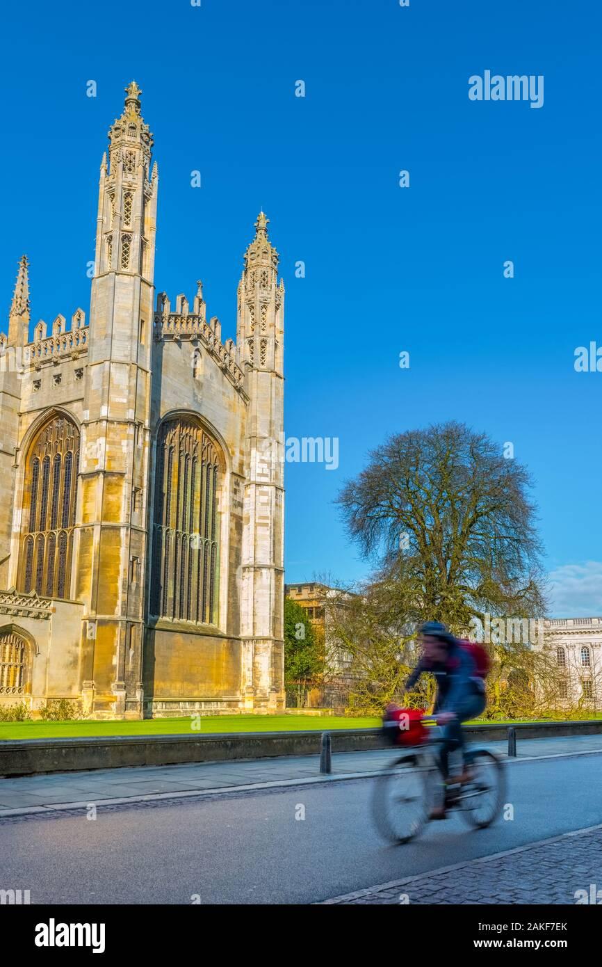 Reino Unido, Inglaterra, Cambridgeshire, Cambridge, la Universidad de Cambridge, la Capilla de King's College Foto de stock