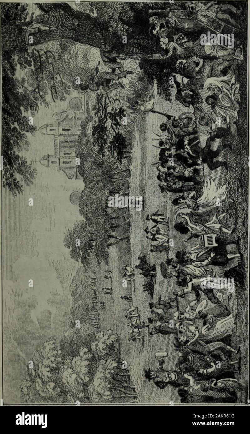 El Parque Greenwich: su historia y asociaciones . celebrado, y divertimentos ofalmost cada tipo se dedican. Trabajo andwax teatral espectáculos eran abundantes, e incluso menagerieswere incluido ; mientras premio-fighters, dedal-constructores,equestrians, cuerda-intérpretes, curanderas, sopladores de trompeta, y carteristas fueron abundantes. Thestalls fueron organizadas principalmente por la roadsidefrom St.Mary's gate del Parque hacia la RoyalObservatory, sobre la cual andgaudy baratijas, dulces, artículos de vestir fueron expuestos para la venta. Enel Observatorio y One Tree Hills telescopios wereerected, por que por unos pocos peniques di Foto de stock