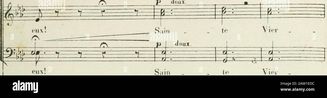 "Le perdón de Ploërmel, opéra comique en 3 actesParoles de Michel Carré y Jules Barbier . ( Ctlrscj-ttr una ye-iwitJrtl ptic tncltldlcmcnl) •?-^f-r-T- m ^ ^ ^ Y ( l,cih(rvu s (ipproifir prit u pendu puhlit, ci _ ijc (lis cicuv! Ffiiiiiipif loiijiiursxnn.sMvfil ihanlrphisjorl mtm bitii soiitenii)"". ^ ^ ± 3^^^•FjT Saillie doux rip Ma .. Simule Mj,.. z -/ ii -0 suivez le chant. rs un tempo. l ^^?^^ me cresç poco a puco. n i v f r ^^1^ ^ clin ^-r •• J iat±*: ""--îi . ri . Yo no me lit-da des l)Ru-i.res,Daii;iiee.autfr uos c""u . ge! Ni).lr(-Da . nie, ex -?B ^ B F=è.r(&>Daigii(iOiaucpr- nos. Foto de stock"