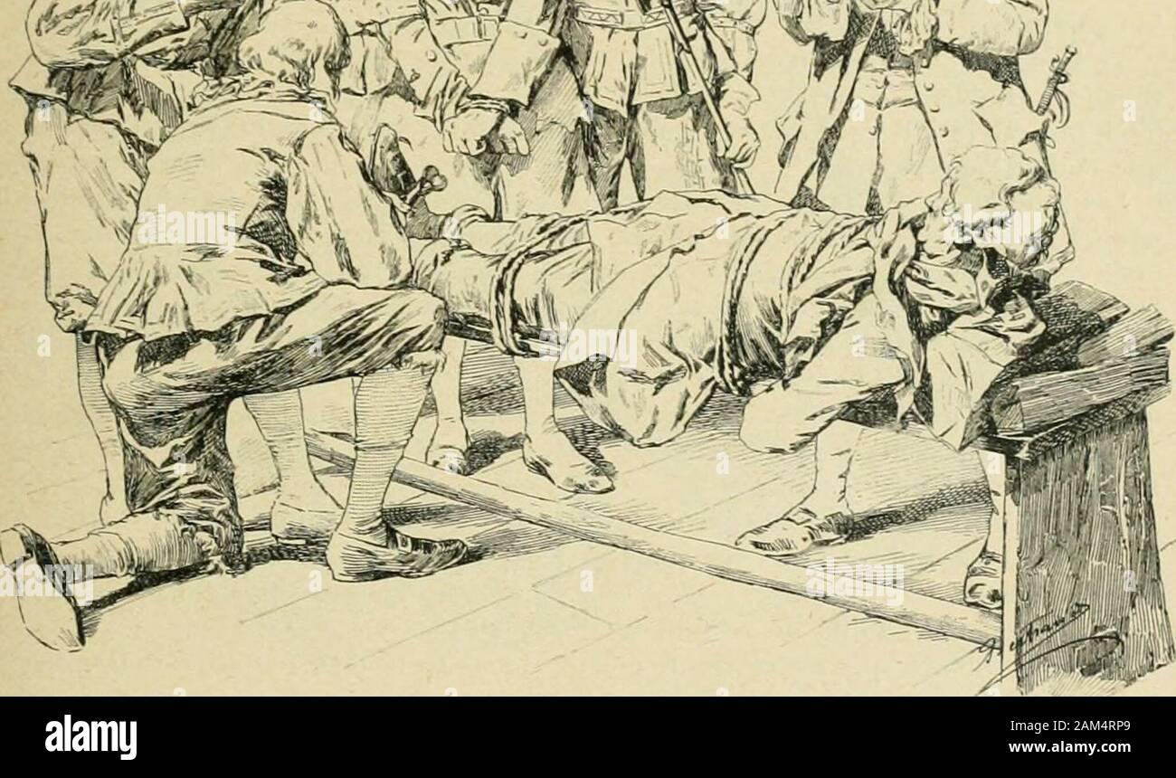 Le monde moderne .- el ficiel lo alel> axaient saisirudement les bras d.André (.hevalliec elle poussaient delioi-s, écartant du pied,sous la tal)le dorée de la Marquesa, lechapeau el Le Petit sac de soie noire res- ii ;,enoux i-l. dune Mii (?•traiif,lre pai-liinolicn. il dil : Ils repasMrenI dan- la -lamle >alle1 paxée. el. .IiiiM^^ le Nolibnle dari, il? G M.I.L)ICTTK KTI(M.|,i;s jolèrpiil sur iiii Andio hiiiu Chevallier. Les iiiiiiiis j;rnssitres (les laquais louil-ses laieiil |)(nhes el relouriiaient tiiiulis sonhabit, c|iie les ;jarcles suissesliaient ses bras des cordes lentr avee. Foto de stock
