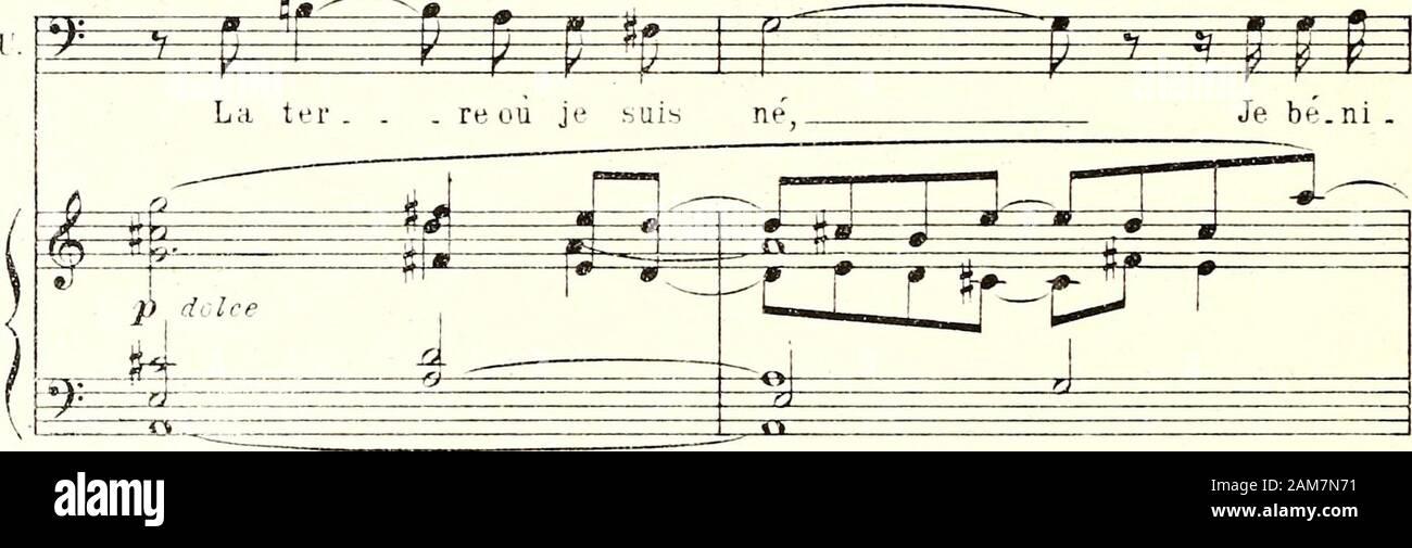 """Nausicaa : opéra en deux actes : . Revenez au Mouvî y- y ^ s i p i p p F Je puis re.ga.g-ner, Revenez au Mouvî mê . me en . Para . tu.né, u) B - w ^^""""i 5^ ]J espress. 1 fàpre.ss. S: 4 -fM>- •^:ô^ ^ ^ré* aowx ^ -^^^ n Je.ni. ^ ^ yo"""" é i=^^ fei 11 -^-^ :• g K- jus.qu un mun rai 11.1 n n 11 ; 53C AP- S^ J Jour su . pr.: ^^f=^^ fezr r =Y=?^ =^- •/ / 3i o.f>^^ me llJ corte . me! Corte ^ le ROImf •m m-*- è ^ ^ 1?"""" M ^^^^ = f s /C^ Je tencon . ju . re, par les dieux! Nt ± m ^ ^ É 4==F 1 n courttT cresc. ^ i f ï 1 l,eR.^g É - F très calme ^^ ^^ par-le pas en . CO 3 de fuir ces lieux! É # Foto de stock"""