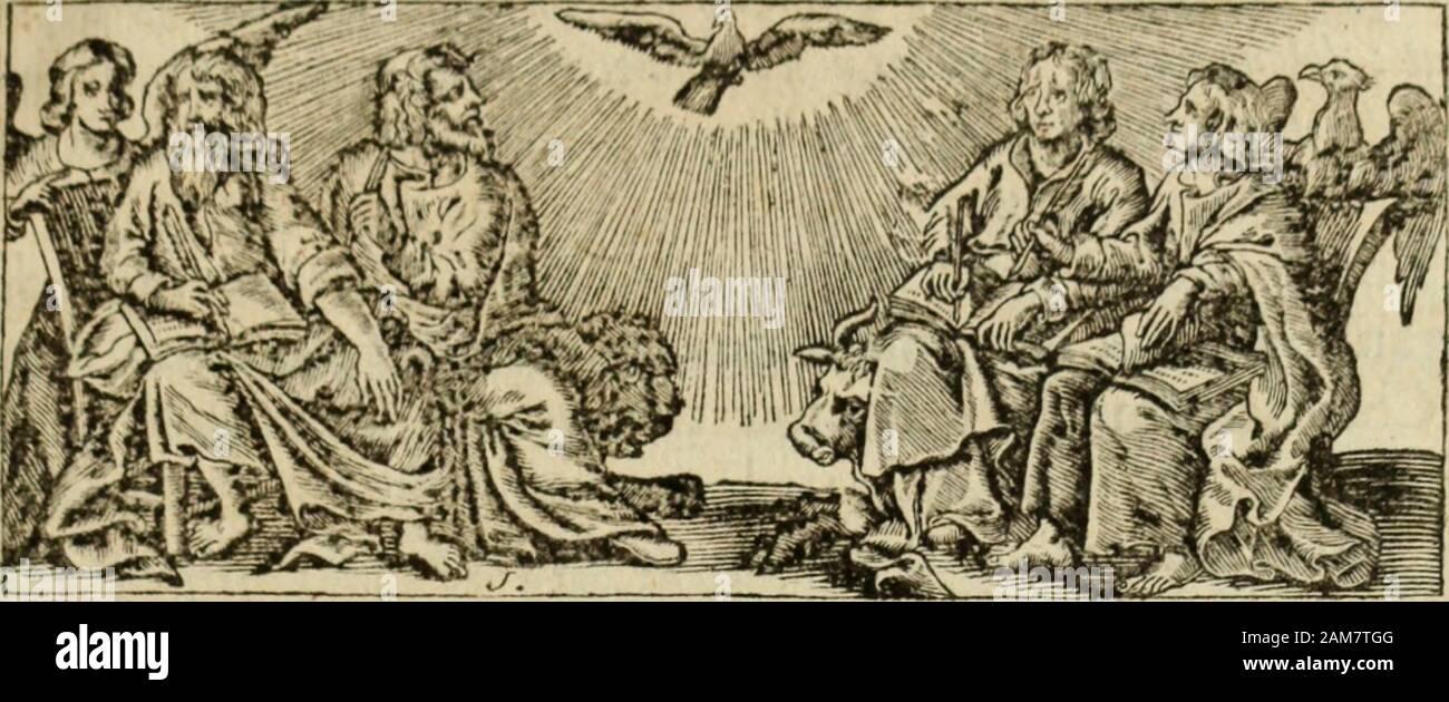 La vie de la Venerable mera Marguerite Marie, religieuse de la Visitación Sainte-Marie du Monastere de Paray-le-Monial en Charolois, morte en odeur de sainteté en 1690 . par ejemplo auffi iilufïre onu que le vo-tre. Ces Cefojit aletas rai y Madame y qui ont excité ma confi.ance. Que Votre Majesté voudroit Jaiefperé bien texcufir en faveurdu motif. Votre ^le pour la gloire de Dieu î exige de vous y vo ^^ E P I T R E. tre douceur , imagen fidelle de Celle du Coeur de notre Sauveur qtu vous adore^ vous y participar. Ce Coeur divin fie rebute jamais ceuxqui sadrejfent à lut : // exauce leurs prières : il r Foto de stock