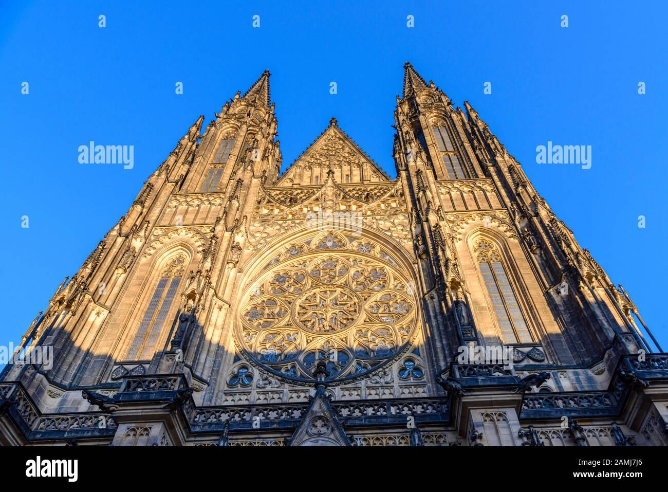 Catedral De San Vito (Katedrála Sv. Víta), Praga, República Checa Foto de stock