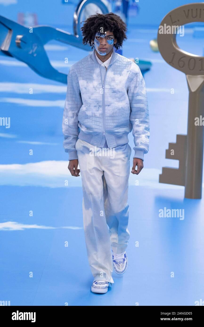 Louis Vuitton AW20 hombres'Äôs pista durante la Semana de la moda de París hombres'Äôs de enero de 2020 - París, Francia 16/01/2020   Mundial de uso Foto de stock