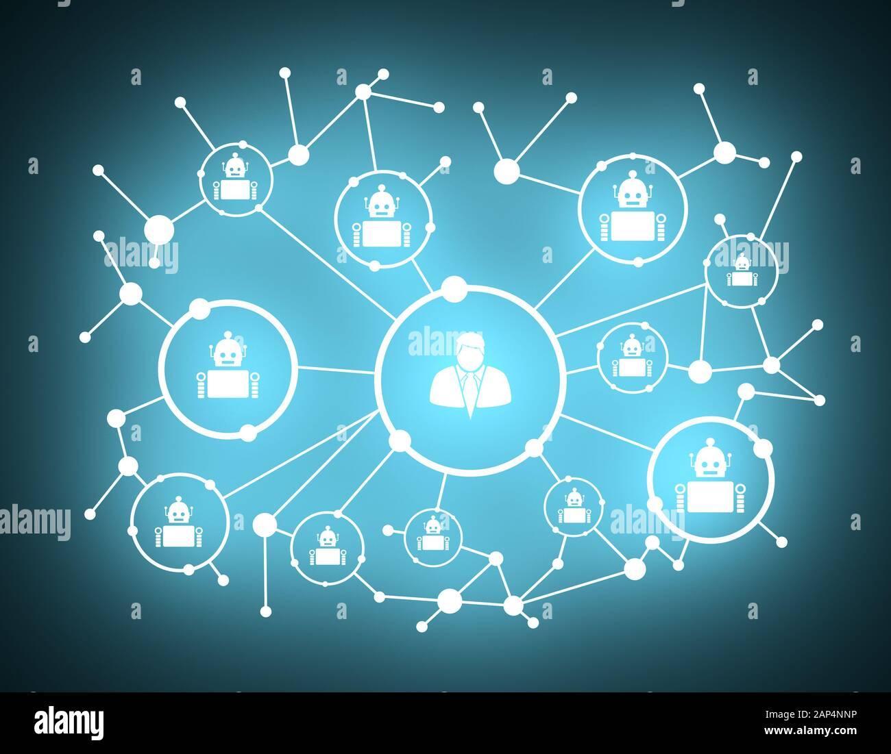 Fondo de crecimiento con líneas, círculos y de integrar los iconos. Símbolos conectado por digital, interactiva y el concepto de comunicación global. Derechos y robo Foto de stock