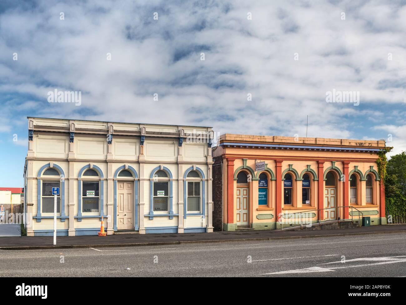 Edificios Históricos De Oficinas En Westport, Región De La Costa Oeste, Isla Sur, Nueva Zelanda Foto de stock