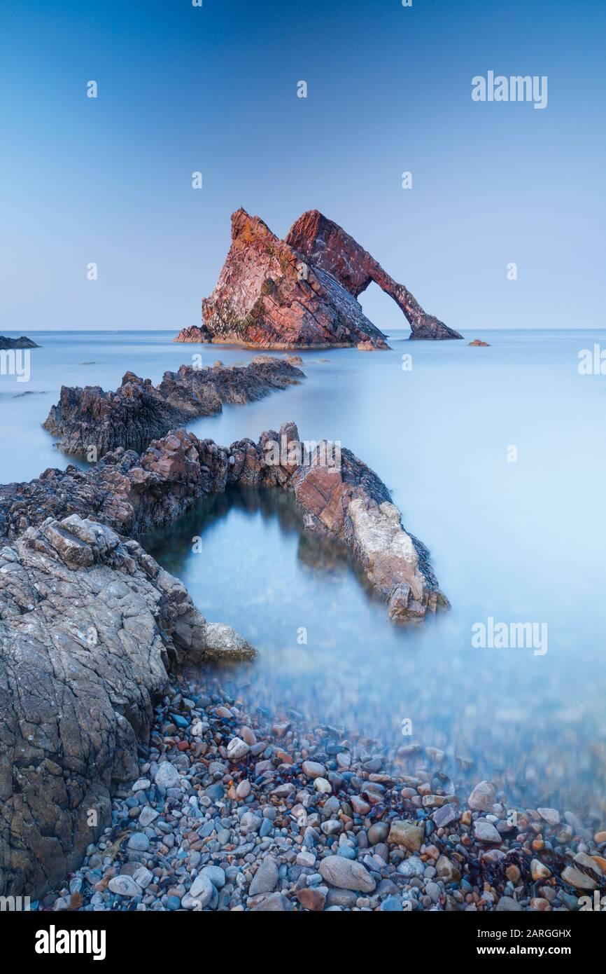 Bow Riddle Rock, Moray Firth, Moray, Escocia, Reino Unido, Europa Foto de stock