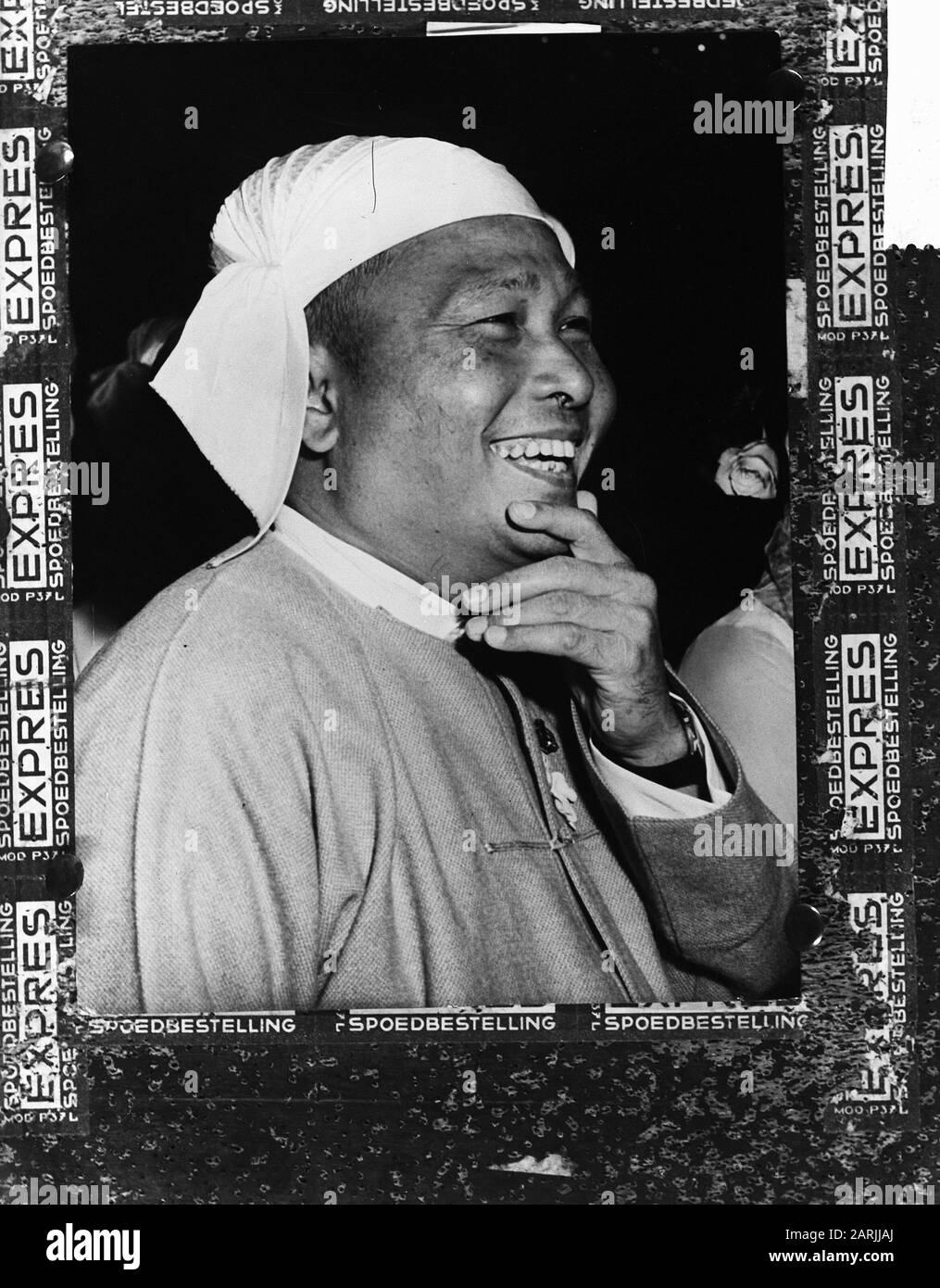 Golpe de Estado en Birmania, premier U Now Fecha: 2 de marzo de 1962 lugar: Birmania palabras clave: Premiers Foto de stock