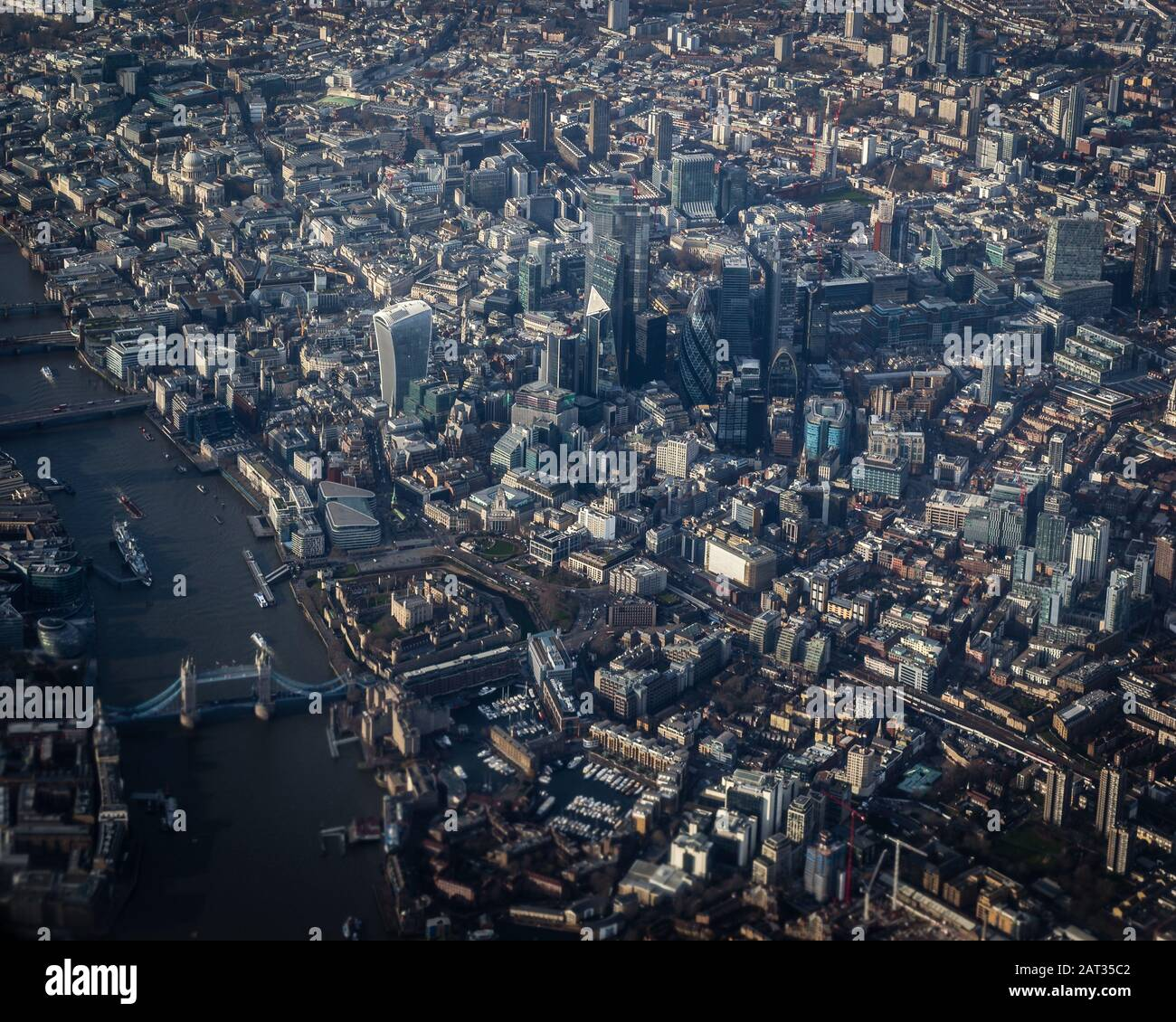 Vista aérea de Londres. Foto de stock
