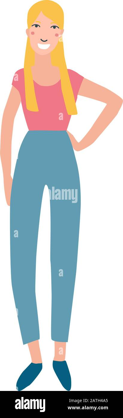 Girl Vector Jeans Fotos E Imagenes De Stock Pagina 2 Alamy