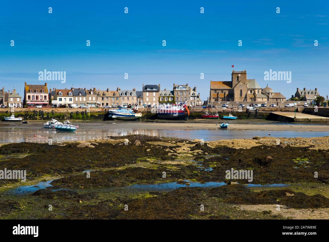 Barfleur Puerto, Cotentin, Normandía, Francia Foto de stock
