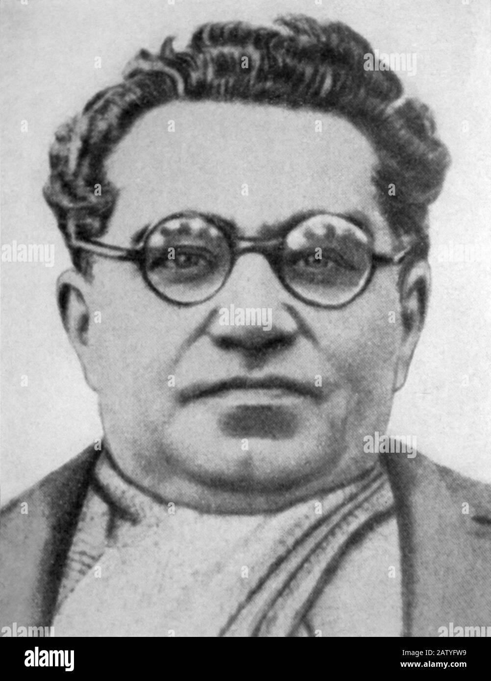 1937 CA : ANTONIO GRAMSCI ( Ales , Oristano 1891 - Roma 1937 ) intelectual italiano, escritor y comunista - PARTIDO COMUNISTA ITALIANO - PCI - P. Foto de stock