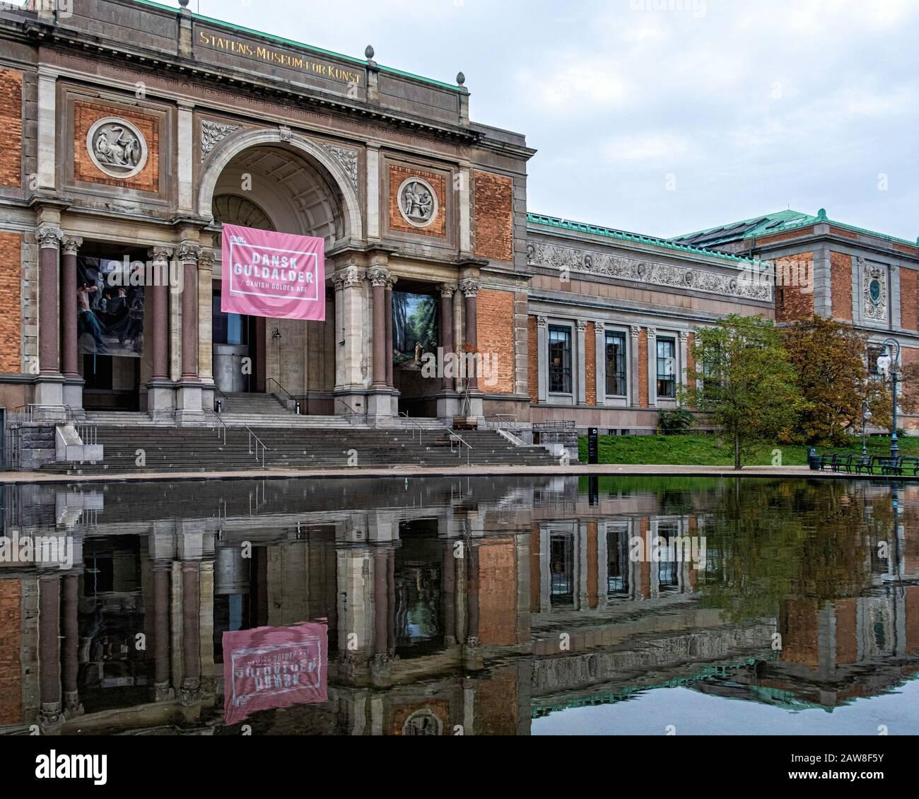 La Galería Nacional de Dinamarca, Statens Museum for Kunst, edificio de estilo renacentista italiano construido entre 1889 y 96, Copenhague Dinamarca Foto de stock