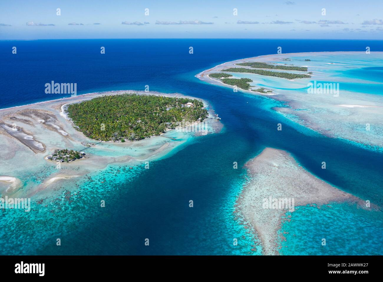 Puerto De Tetamanu Del Atolón De Fakarava, Tuamotu Archipel, Polinesia Francesa Foto de stock