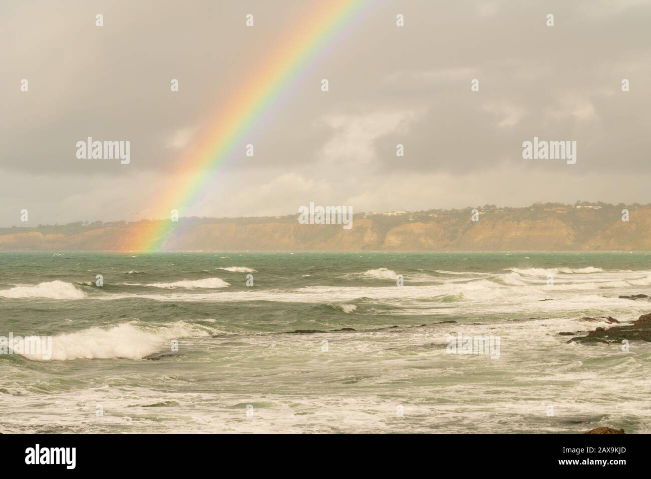 La Jolla California Arco Iris Foto de stock