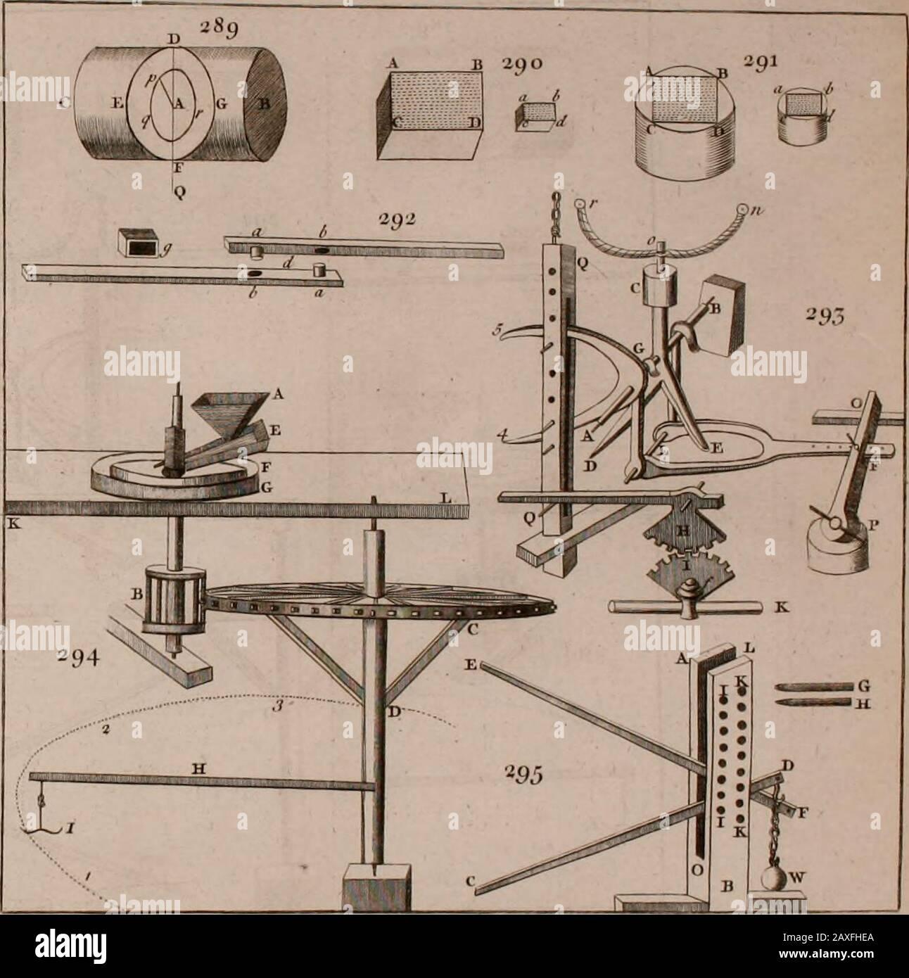 Los principios de la mecánica : explicar y demostrar las leyes generales de movimiento, las leyes de gravedad, movimiento de cuerpos descendentes, proyectiles, poderes mecánicos, péndulos, centros de gravedad, &cstrength y estrés de la madera, hidróstaticos, y construcción de máquinas : un trabajo muy necesario para ser conocido, por todos los caballeros, y otros, que desean tener una visión de las obras de la naturaleza y el arte : y extremadamente útil a todo tipo de artificadores, particularmente a arquitectos, ingenieros, shipwrights, millwrights, relojeros, &cor cualquiera que trabaje de una manera mecánica : ilustrado con cuarenta Foto de stock