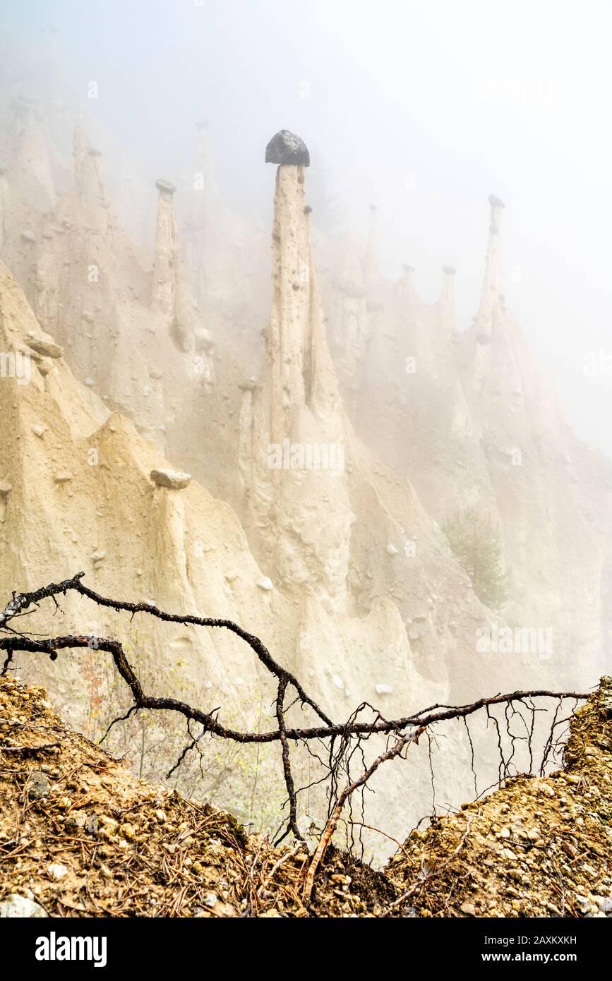 Pirámides Terrestres, Perca/Percha, Provincia De Bolzano, Tirol Del Sur, Italia Foto de stock