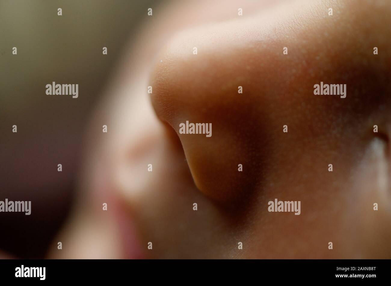 Fotografía de estudio para recién nacidos Foto de stock