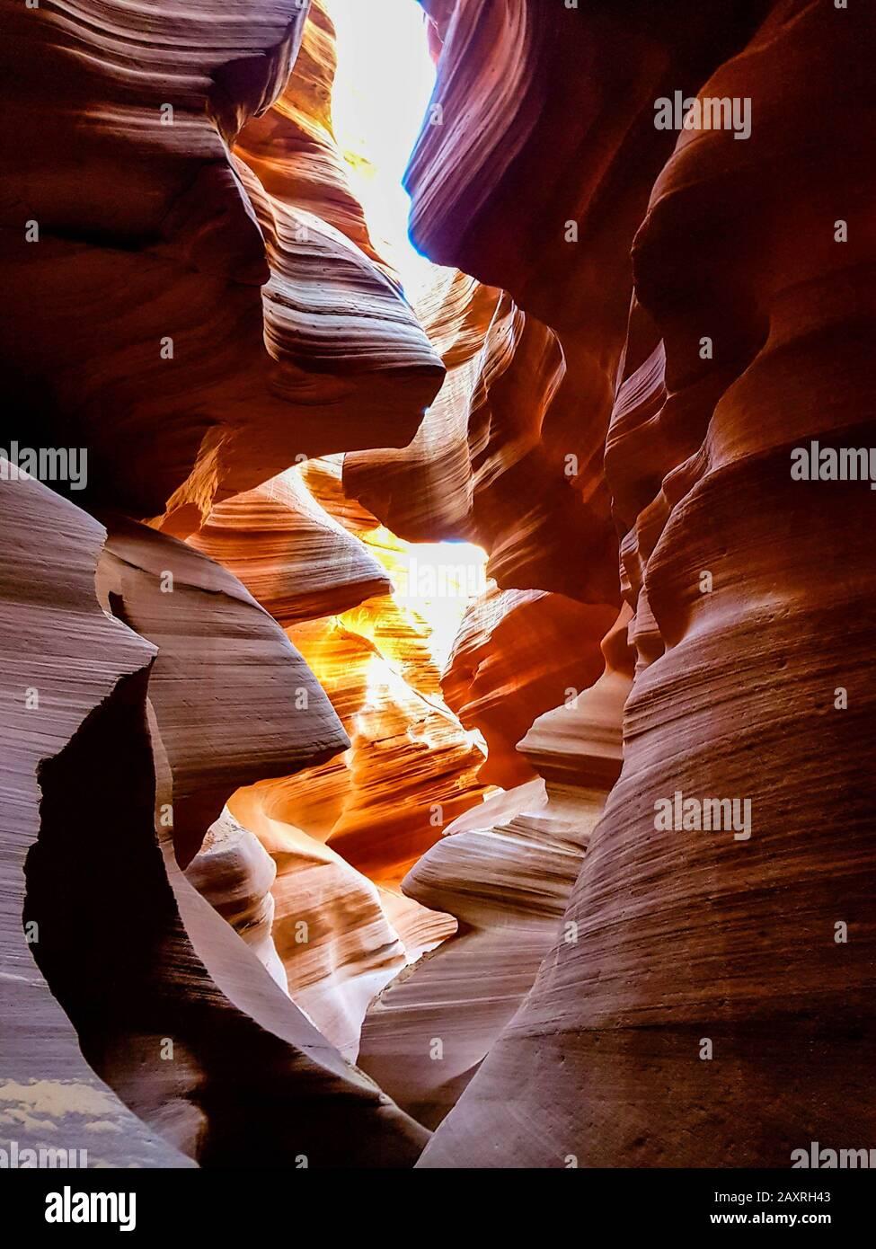Antelope Canyon - cañones de ranura en Page Arizona, EE.UU Foto de stock