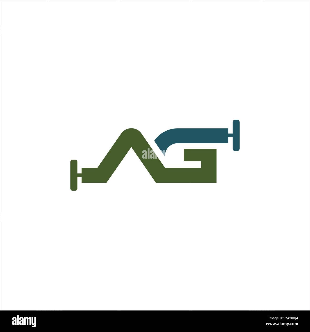 Plantilla inicial de diseño de logotipo de letra ah o ha Ilustración del Vector