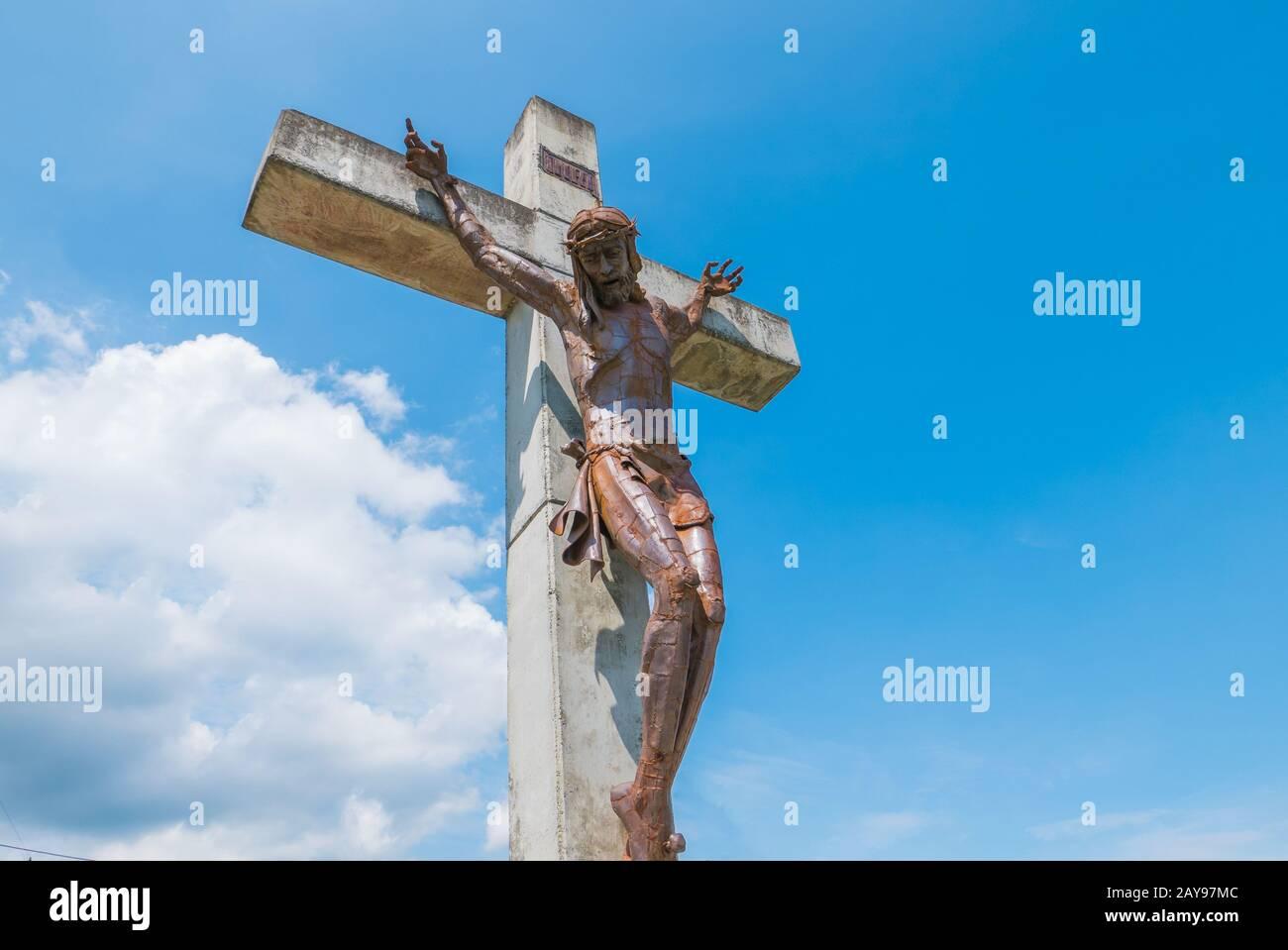Cristo de Paz en el distrito llamado Divisa en Medellín Colombia Foto de stock