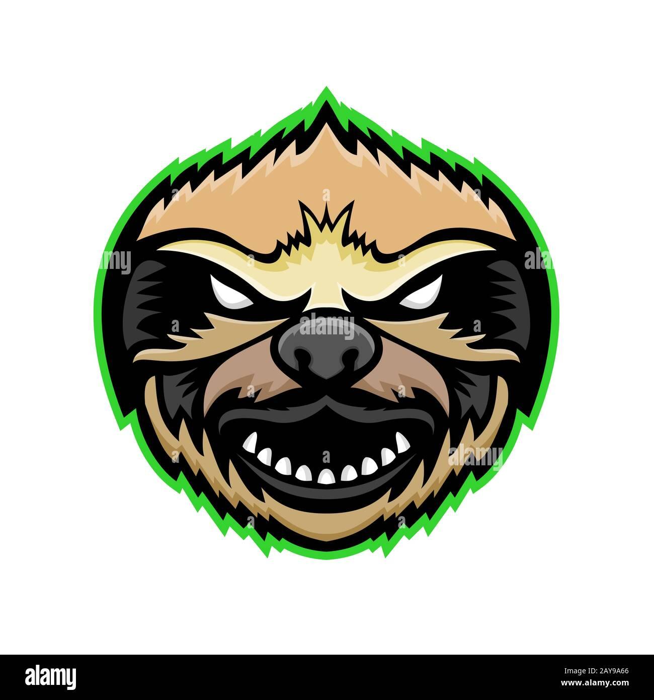 Enojado Sloth mascota Foto de stock