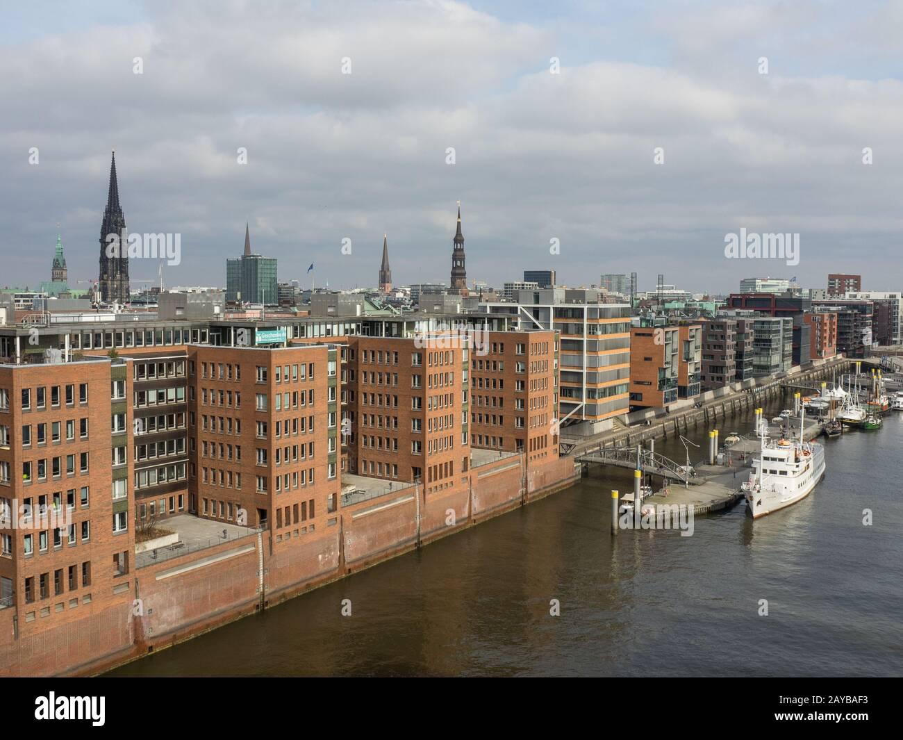 ciudad de Hamburgo Foto de stock