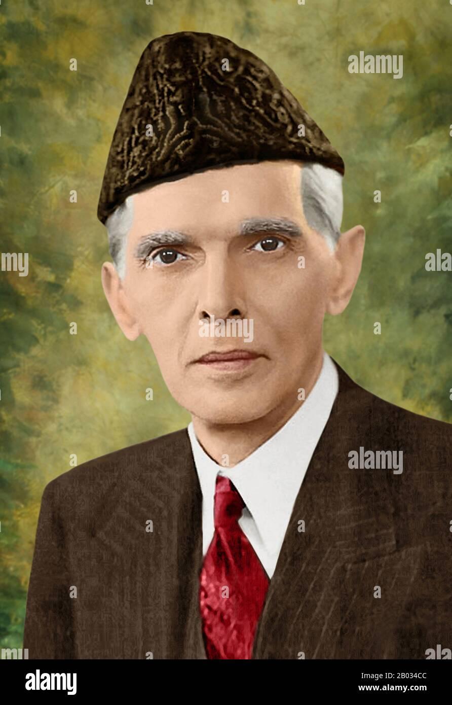 Muhammad Ali Jinnah (25 de diciembre de 1876 – 11 de septiembre de 1948) fue un abogado del siglo XX, político, estadista y fundador de Pakistán. Es conocido popular y oficialmente en Pakistán como Quaid-e-Azam (Gran líder). Jinnah murió a la edad de 71 años en septiembre de 1948, poco más de un año después de que Pakistán se independizara del Imperio Británico. Foto de stock
